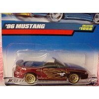 Mattel Hot Wheels 1999 1:64 Scale Maroon 1996 Ford Mustang Die Cast Car Collector #1058 ()