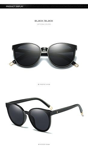 Future fashion Women Colour Luxury Flat Top Cat Eye Sunglasses Alloy Frame - Vans Sunglasses Mirrored