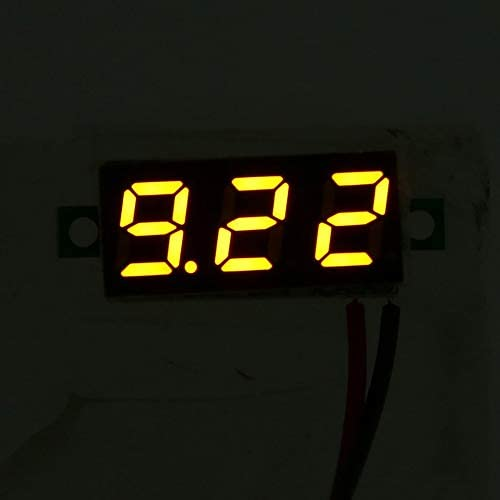 2.5-30V 0.28in 2 hilos LED Panel de pantalla digital Volt/ímetro Medidor de voltaje el/éctrico Volt Tester para Auto Car MotorcycleYellow Negro Medidor de voltaje digital