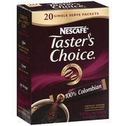Taster's Choice 100% Colombian Instant Coffee Single Serve Packets, 20ct(Case of (Taster Case)