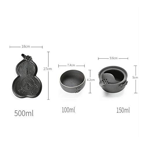 Chusea Kitchen Tea Set Porcelain Drinkware Set Saucers A Pot A Cup Ceramics Tea Pot Set Pottery Teapot Maker Individual Make Tea Cup Single Travel Gift 500ML by Chusea (Image #2)