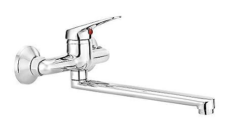 Kitchen Tap Wall Mounted Swivel Spout Tap Kitchen Sink Mixer Tap ...