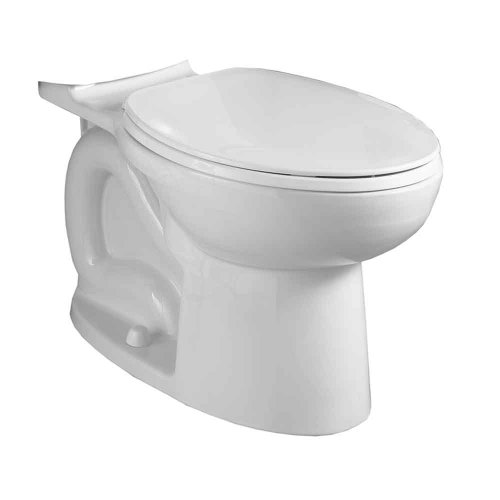 American Standard 3717F001.020 Cadet 3 FloWise Compact Right Height Elongated Toilet Bowl Only in White - White Cadet 3 Compact
