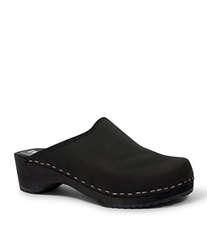really cheap Sandgrens Swedish Low Heel Wooden Clog Mules for Women | Tokyo Black (Nubuck) buy cheap new outlet for cheap outlet locations for sale t1rTSqbi