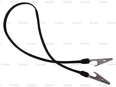 plástico negro Sostenedor de la Servilleta Dental BABERO CLIPS 16'' CADENA PINZAS COCODRILO