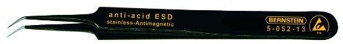 Bernstein 5-052-13 110 mm, punta en /ángulo, puntiaguda, con recubrimiento ESD Pinzas de precisi/ón para componentes SMD