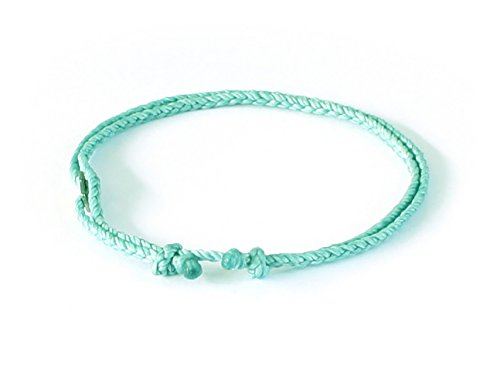 Wakami Single Strand Bracelet Anklet Handmade Adjustable Friendship Bracelets or Anklets :: Make Your Own :: Buy 3 Get 1 Free ()