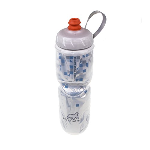 Polar Bottle Zipstream Breakaway - 24oz Insulated Water Bottle (Blue)