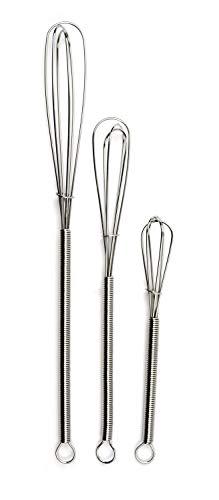 RSVP Endurance 18/8 Stainless Steel Mini Whisks, Set of -