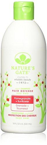Natures Gate Shampoo, Vegan, Hair Defense, Pomegranate + Sunflower - Pomegranate Sunflower Hair Defense