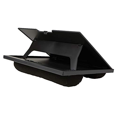 Mind Reader LTADJUST-BLK Adjustable Portable 8 Position Lap Top Desk with Built in Cushions, Black ()