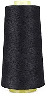 product image for 6000 Yards Black Sewing Thread All Purpose 100% Spun Polyester Spools Overlock Cone (Upholstery, Canvas, Drapery, Beading, Quilting)