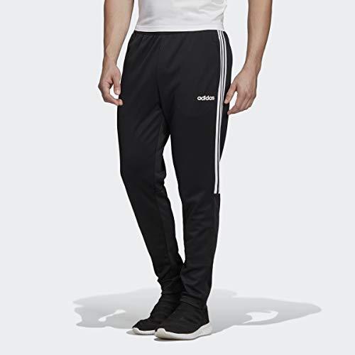 adidas Men's Sereno 19 Training Soccer Pants, Black/White, Small (Adidas Slim Pants)