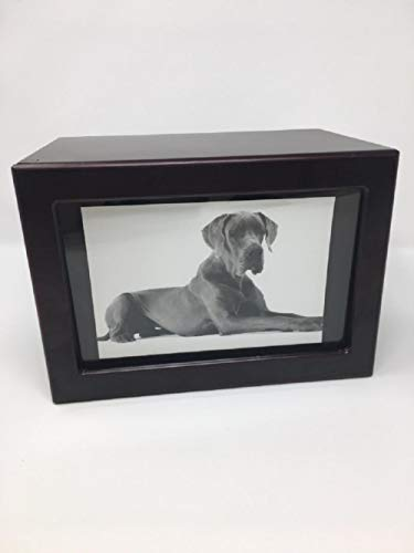 Eternal Rest by Sempr Pet Urn Peaceful Pet Memorial Keepsake Urn,Photo Box Pet Cremation Urn,Dog Urn,Cat Urn,Large Animal Urn, Size, Extra Large XL, Color, Cherry, 150 cu.in.