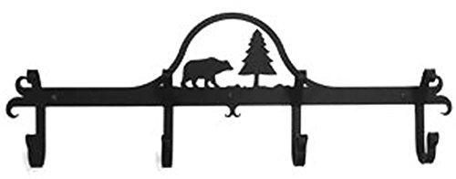 Iron Coat Rack-Towel Rack Bar Bear - 24' Heavy Duty Metal Coat Hooks - Hat Rack, Coat Rail Or Garmet Rack