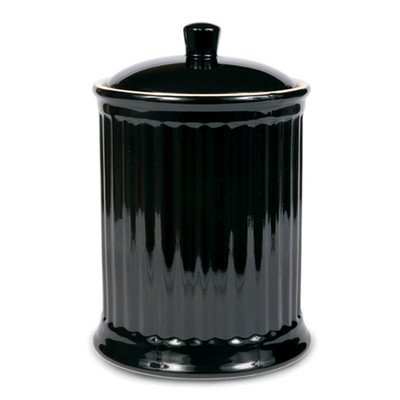 OmniWare Simsbury Black Extra Large Stoneware Canister and Cookie Jar