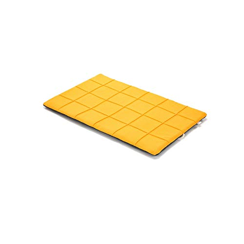 Theoutgoing Doghouses Dog Cat Kennel Mat Soft Warm Fleece Dog Bed Cushion for Small Medium Large Dogs Cats Puppy Products XXS to XL,Yellow,L (56x85cm),U