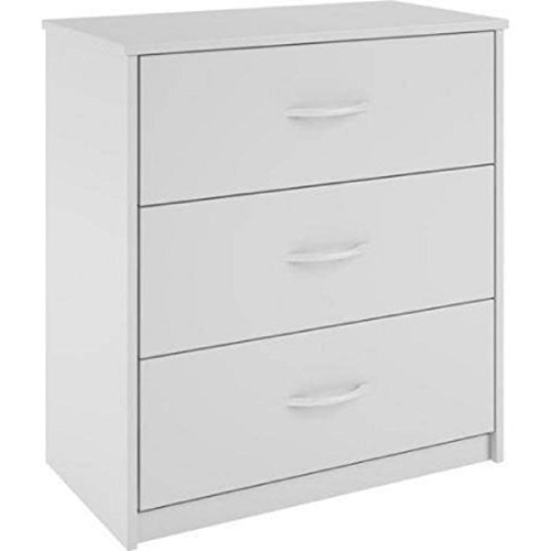 Treasures White Drawer Chest - Mainstays 3-Drawer Dresser 3 easy-glide drawers (White)
