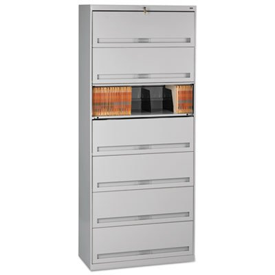 Closed Fixed Shelf Lateral File, 36w x 16 1/2d x 87h, Light Gray, Sold as 1 Each