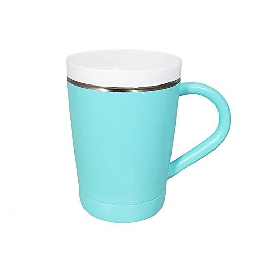 CeramiSteel 12 ounce Coffee Mug with Lid, Ceramic Coated Stainless Steel Tumbler with Handle, Vacuum Insulated, BPA Free, Turquoise Powder Coat - 12 Ounce Mug Ceramic