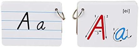 Alphabet Flash Card 26 Alphabet Card A-Z Capital Letters For School Teachers BL
