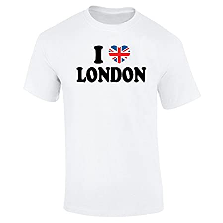 Flip Mens I Love London Union Jack Heart T-Shirt 318YXl6OW9L