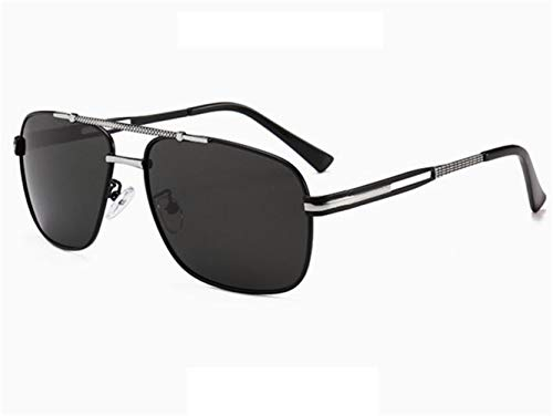 soleil unisexe de de métal Lunettes conduisant de en Silver de Huyizhi cadre des lunettes voyager Cool soleil polarisées lunettes q1A16wH