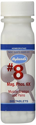 Hyland's Cell Salts #8 Magnesia Phosphorica 6X Tablets, Natural Homeopathic Relief of Muscle Cramps and Pains, 500 Count
