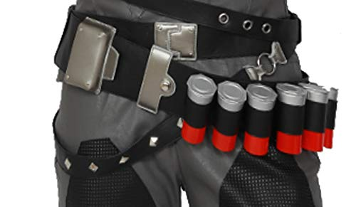 OW Reaper Cartridge Belt PU Leather Cosplay Costume Accessories Props Game Anime Weapon Black ()