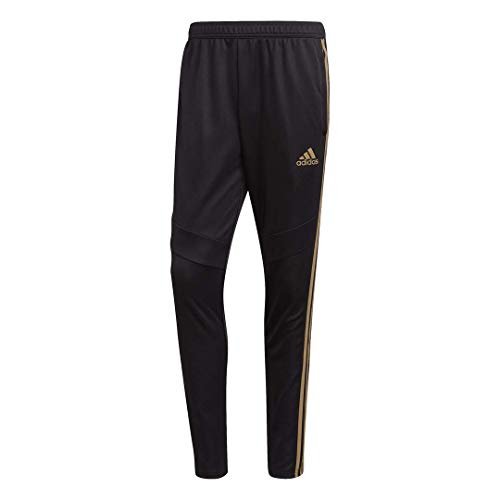 - adidas Men's Tiro19 Training Pants, Black/Reflective Gold,Small