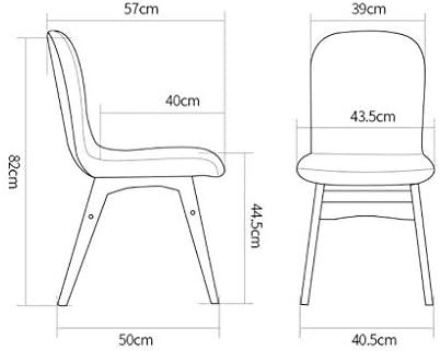 XINHXHE Chaise en Bois Massif - Coussin Moelleux en Tissu avec accoudoirs avec Dossier Chaise en Bois Massif Chaise Longue Dinette Assemblage Gris Chaise