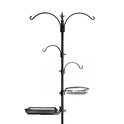 "318YcMuQEUL - Ashman Premium Bird Feeding Station Kit, 22"" Wide x 92"" Tall (82"" above ground height), A Multi Feeder Hanging Kit and Bird Bath For Attracting Wild Birds"