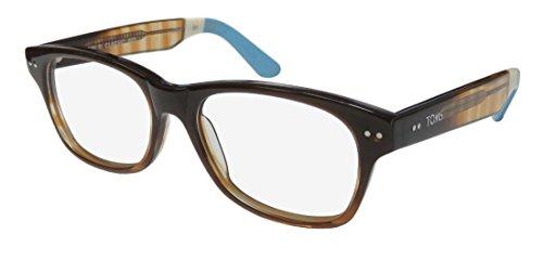 Toms Nairobi Classic 601 Mens/Womens Designer Full-rim Eyeglasses/Glasses (53-17-140, Gradient Brown / - 140 17 Glasses 53