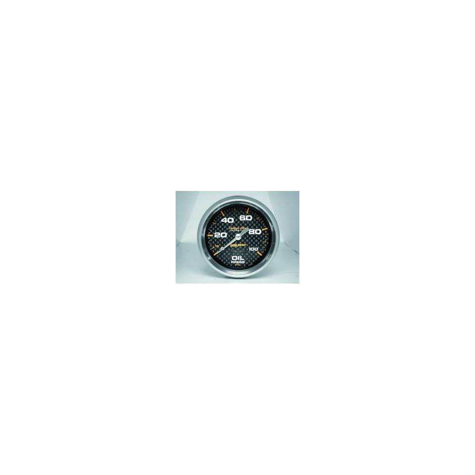 Auto Meter 4821 Carbon Fiber 2 5/8 0 100 PSI Mechanical Oil Pressure Gauge