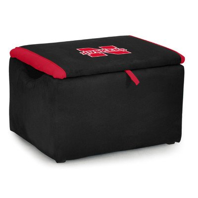 Kidz World Upholstered Storage Bench Toy Box University of Nebraska by Kidz World (Image #1)