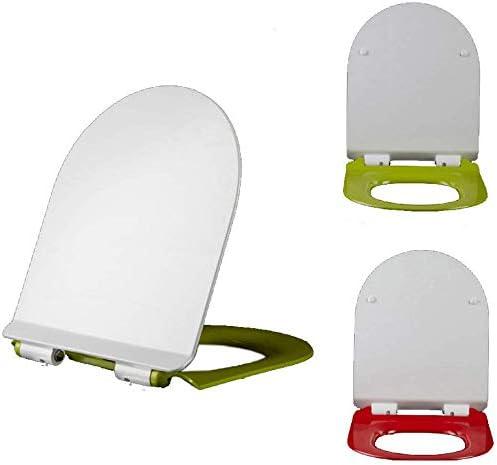 S-優雅な便座の色尿素-ホルムアルデヒドトイレのふた厚くなるU字型のカバートイレプレート便座カバー、赤-40〜48.5 * 36cm