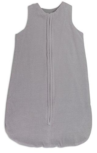 Baby Wearable Blanket,Sleep Bag 100% Plush Cotton Velvet Medium 3-6 Months Grey