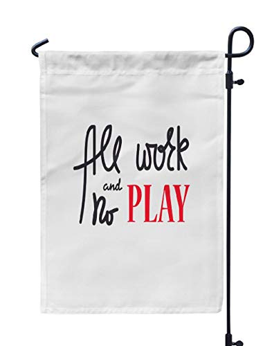 (Soopat Relax Seasonal Flag, Work and Play Simple and Drawn Weatherproof Double Stitched Outdoor Decorative Flags for Garden Yard 12''L x 18''W Welcome Garden Flag)