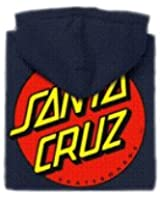 Santa Cruz Skateboards Classic Dot Hooded Pullover Sweatshirt  (Large, Black)