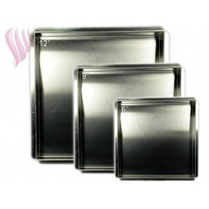 Square Cake Pan Set 6 inch-9 inch-12 inch
