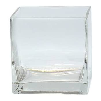 Amazon Koyal Wholesale 404349 6 Pack Tall Square Glass Vases 4
