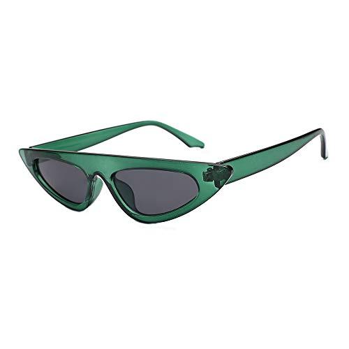 JJLIKER Retro Vintage Cat Eye Sunglasses for Women Clout Goggles Plastic Frame Glasses Green