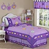 Sweet Jojo Designs 4-Piece Danielle's Daisies Children's Girls Twin Bedding Set