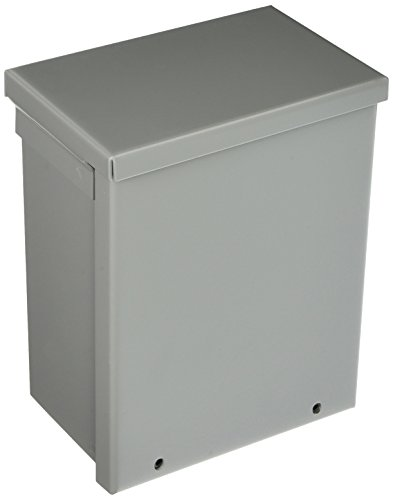 Hoffman A8R64 NEMA 3R Enclosure, Screw Cover, Galvanized, Paint Finish, 8