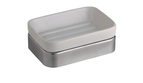 2 Pcs//Set Stainless Steel Soap Box Soap Dishes Holder Bathroom Storage L