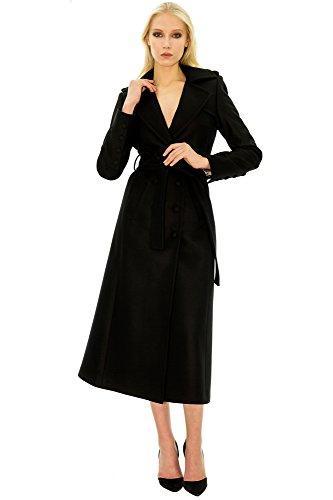 Noir long en Manteau noir cachemire wpWIqHOAT