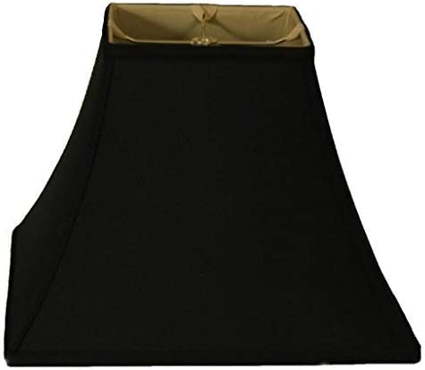 Royal Designs BS-715-10BLK Square Bell Lamp Shade, 5 x 10 x 9, Black