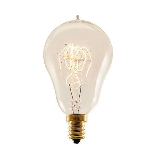 Loop Candelabra (Bulbrite 132516 - 3PK - 25W - A15 - Loop - E12 Base - 120V - 1800K - 2,000Hrs - Antique - Nostalgic Incandescent Edison)