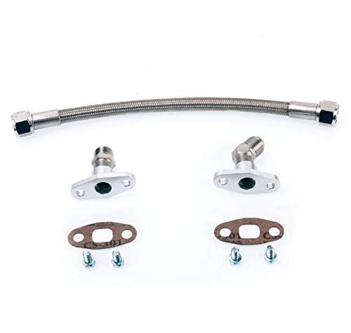 Kinugawa Turbo Oil Drain/Return Line kit Garrett T3 T4 35cm 10AN Teflon Hose - Turbo Oil Drain Pipe