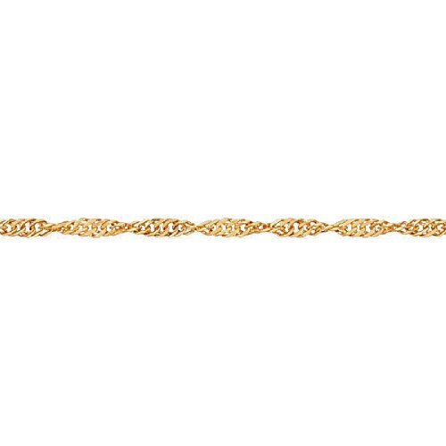 So Chic Jewels - 9k Yellow Gold - 25 cm - Singapore Link Chain Anklet by So Chic Jewels